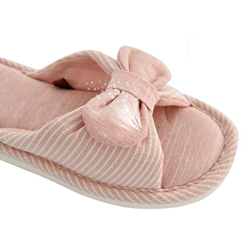 Slippers Flip 37 Linen 36 Household Summer Pink Flops Waterproof Pink Antiskid 240Cm Cotton Indoor Shoes RUEgfEnA