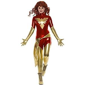 Secret Wishes Womens Marvel X Men Dark Phoenix Costume