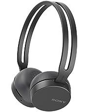 Sony WHCH400H - Auriculares inalámbricos (Bluetooth, NFC, micro para llamadas con manos libres, óptimo para trabajar en casa), Negro