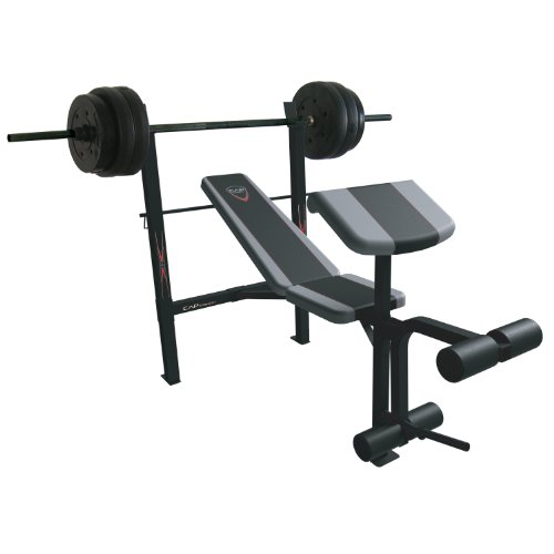 Cap Barbell Exercise Combo Bench With 80 Pound Weight Set Preacher And Leg Extension Benches