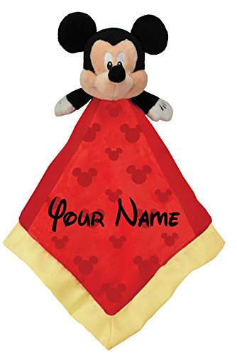 (Disney Personalized Mickey Mouse Baby Snuggle Blanky Blanket - 14 Inches)