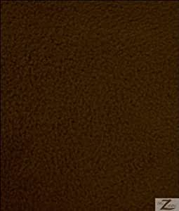 """BROWN SOLID POLAR FLEECE ANTI-PILL FABRIC 60"""" WIDTH SOLD BY THE YARD"""
