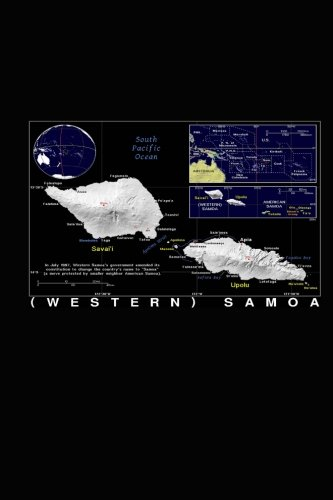 Samoa Map - Modern Day Color Map of Western Samoa Journal: Take Notes, Write Down Memories in this 150 Page Lined Journal