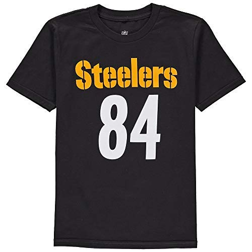 Steelers Football T-shirt - Outerstuff Antonio Brown Pittsburgh Steelers #84 NFL Youth Mainliner Name & Number T-Shirt (Youth Small 8)