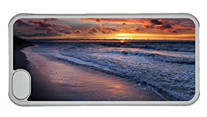 Cheap sell iphone 5C covers The coast beautiful sunset landscape PC Transparent for Apple iPhone 5C
