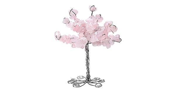 qgem Natural gemas Tumbled piedra dinero árbol mesa de despacho ...
