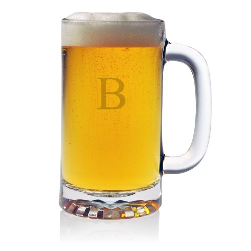 Susquehanna-Glass-Monogrammed-Pub-Beer-Mugs-Set-of-4