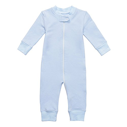 Owlivia Organic Cotton Baby Boy Girl Fleece Zip Up Sleep N Play, Footless, Long Sleeve (Size 0-18 Month) (0-3 Months, -