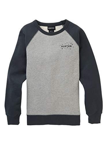 (Burton Women's Keeler Crew Sweatshirt, Gray Heather/Phantom, X-Small)