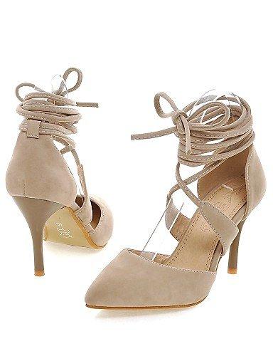 LFNLYX Zapatos de mujer-Tacón Stiletto-Tacones / D'Orsay y Dos Piezas / Puntiagudos-Sandalias-Vestido / Fiesta y Noche-Microfibra-Negro / Rojo / Red
