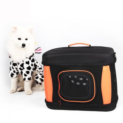 LOVEPET Pet Tote Summer Dog Zaino Multifunzione Pieghevole Cat Bag Traspirante Portatile Travel Air Box Tracolla Nero Eva 42  33  33.5 Cm