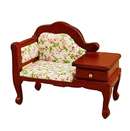 Remarkable Eatingbitingrdollhouse Miniature Doll Sofa 1 12 Dollhouse Miniature Furniture Wooden Sofa Seat Sofa Chair With Drawer Table Sofa Delicate Seat Caraccident5 Cool Chair Designs And Ideas Caraccident5Info