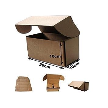 20x10x10cm Cajas Postales Automontables de cartón canal simple doble frontal .Kraft Marrón. Pack 100 unidades: Amazon.es: Oficina y papelería