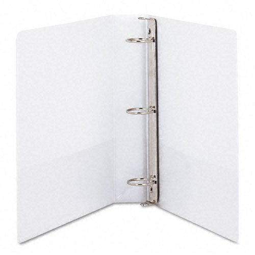 (Samsill 1.5-Inch Antimicrobial Round Ring View Binder, White (18257))
