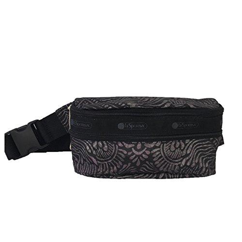 LeSportsac Double Zip Belt Bag Waist Pack, Bali Charcoal