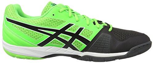 Asics Gel-Blade 5, Zapatillas de Balonmano para Hombre Multicolor (Green Gecko/black/dark Grey)