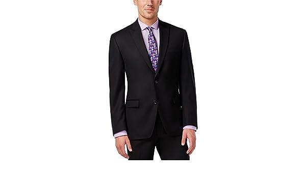 b96bd9bdecaa2a Amazon.com: Shaquille Oneal Mens Big & Tall Texture Two Button Blazer  Jacket Black 48 Tall - Big & Tall: Clothing