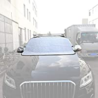 Car Windshield Snow Cover & With Five Strong Magnets Effectively Shield The Hood From Protecting The Wiper Fit For Most Vehicle
