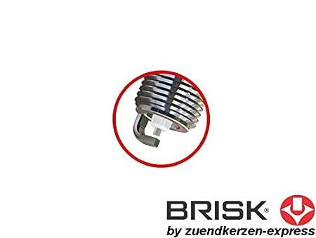 6 St/ück Brisk Silver DR15YS-9 1462 Z/ündkerzen Benzin LPG CNG Autogas