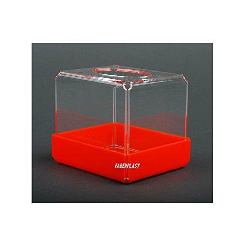 Faberplast Caja, Metacrilato, Transparente y Naranja, 12x10x11 cm: Amazon.es: Hogar
