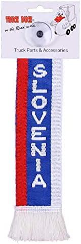 Bander/ín Bandera ventosa Espejo Decoraci/ón TRUCK DUCK/® Camiones Auto Mini Eslovenia SLOVENIA Mini