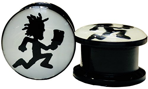 The Madd Hatter Hatchet Man Screw-on Gauges/plugs Acrylic (1 Pair) Different Sizes Available (4g (5mm))