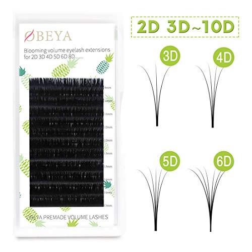 d44f59d8457 Russian Volume Eyelash Extension D Curl .07 Mix 10 Rows Blomming Flower 2d  3d ~