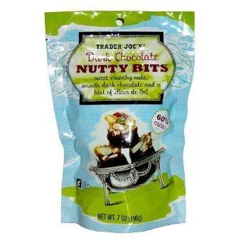 2 Packs Trader Joe's Dark Chocolate Nutty Bits 60% Cacao