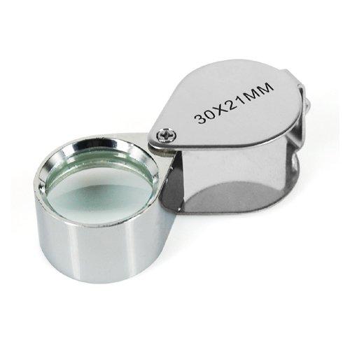 (DIGIFLEX Jewellers Loupe 30 x 21mm Glass Jewelry Antiques Magnifier Hallmark Eye Lens)