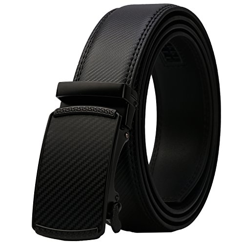 Dante Men's Real Leather Ratchet Dress Belt with Automatic Buckle-Elegant Gift (New Mens Dress Belt)
