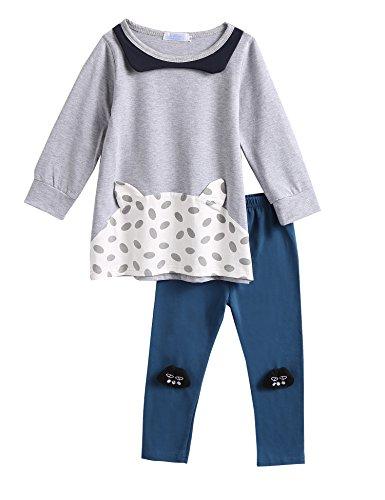 [100% COTTON]Baby cotton pants casual pants Leggings GREY - 9