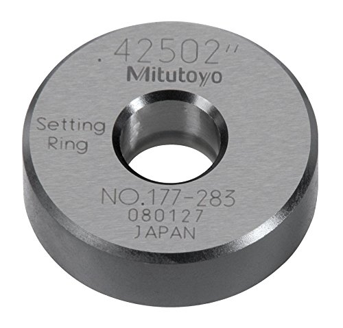 Mitutoyo 177-283 Setting Ring, 0.425' Size, 0.39' Width, 1.26' Outside Diameter, +/-0.00004' Accuracy 0.425 Size 0.39 Width 1.26 Outside Diameter +/-0.00004 Accuracy
