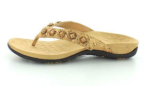 Floriana Womens Toe Cork Sandals Post Gold Vionic CqFwOw