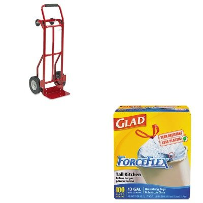 KITCOX70427SAF4086R - Value Kit - Safco Two-Way Convertible Hand Truck (SAF4086R) and Glad ForceFlex Tall-Kitchen Drawstring Bags (COX70427) (Hand Truck Way Convertible Two)