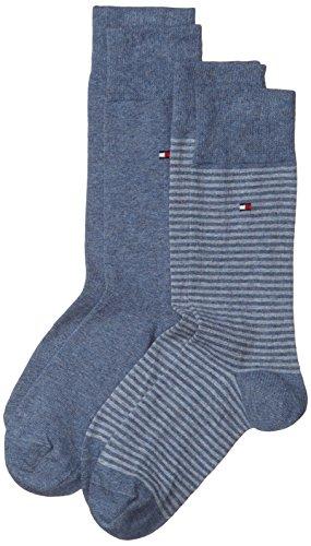 Tommy Hilfiger Herren Socken TH MEN SMALL STRIPE, 2er Pack, Gr. 39/42, Blau (jeans 356)