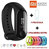 Mi band 3 xiaomi global portugues + película + pulseira extra