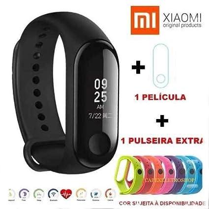 e5f45b801 Relogio Inteligente Mi Band 3 Xiaomi Global Portugues + Película + Pulseira  extra