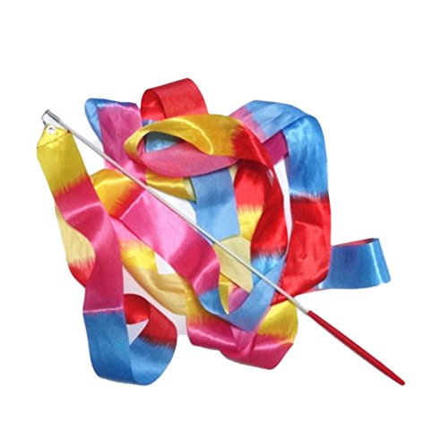 Gaosaili Rhythmic Gymnastics Ribbon Baton Twirling Dance Streamers Style B