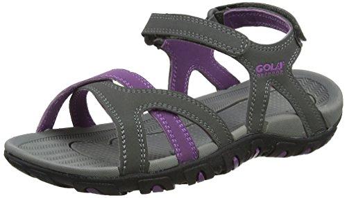 Gola Cedar, Zapatillas Deportivas para Interior para Mujer Gris (Grey/Purple)