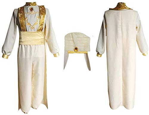 2019 Year Live-Action Aladdin Costume Stage Stage Costume fair Halloween Christmas Celebration Costumes Prince Costume Beige (Best Male Halloween Costumes 2019)