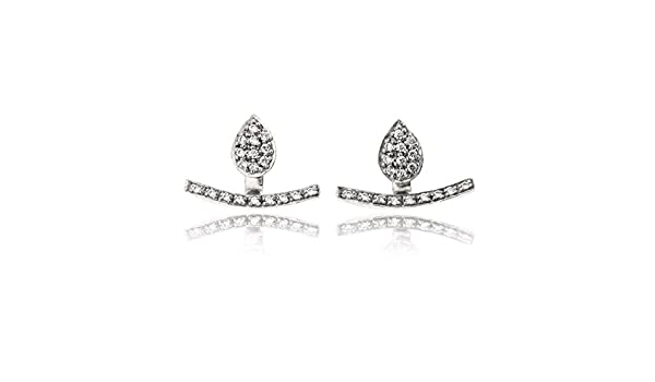 Stylish Climber Earrings/&Trendy Nickel Free Earring Sovats Eight Cubic Zirconia Earring For Women 925 Sterling Silver Rhodium Plated Simple