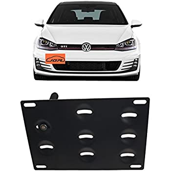 "2 Brand New /""VOLKSWAGEN/"" VW BLACK Metal License Plate Frame Front/&Rear"