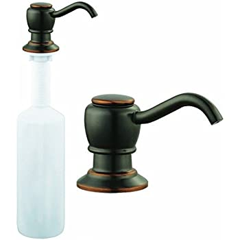 Oil Rubbed Bronze Kitchen Sink Faucet Liquid Soap Pump