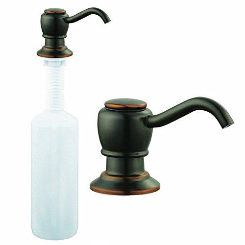 Aceitado Bronce grifo de fregadero de cocina dispensador de jabón líquido bomba Loción: Amazon.es: Bricolaje y herramientas