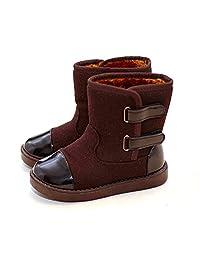 D.LIN Boys & Girls Alaska Waterproof Snow Boots (Toddler Little Kid)