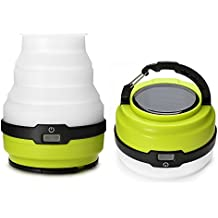 Odoland USB Rechargeable Solar Lantern, 3 Modes Collapsible LED Camping Lantern Emergency Light, Ultra Bright LED Tent Light - Portable Camping Gear for Hiking Emergencies Hurricane Outages