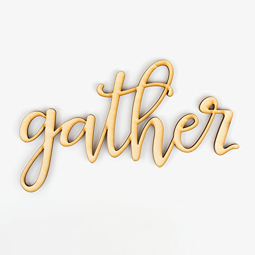 Gather Wood Sign Home Décor Wall Art Unfinished 18