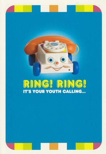 Amazon Birthday Card Fisher Price Ring Its Your Youth