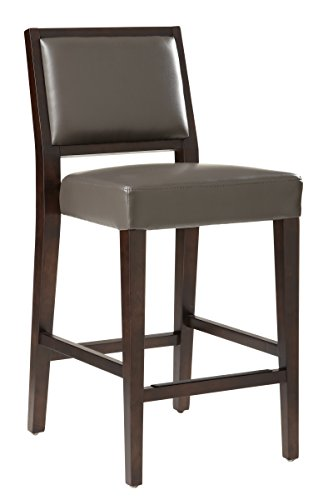 Sunpan Modern Citizen Leather Counter Stool, Grey