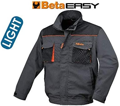 XS mm Beta Tools 78690900 Giacche Easy Twill 180GR Grey TG.XS
